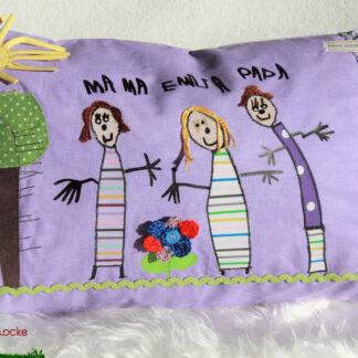 Kissen mit deiner Kinderzeichnung